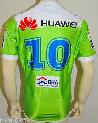 Canberra Raiders NRL Player Issue Jersey #10 with Grips