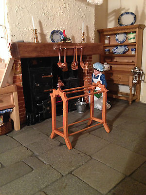 Dolls House 1/12 Towel RAIL VICTORIAN STYLE LIMITED TOP END HAND CRAFTED