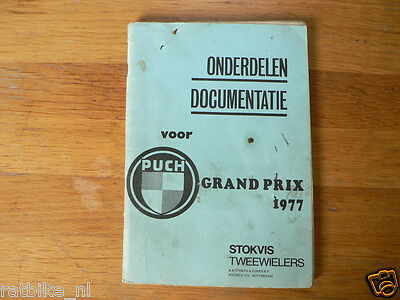 Puch Grand Prix 1977 Onderdelen Documentatie Part List 1977 Ersatzteile Moped