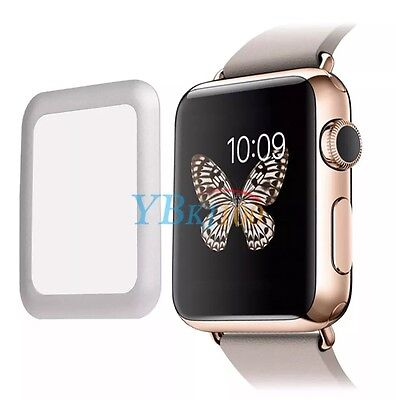 42mm Full Border Tempered Glass Screen Protector For Apple Watch 42mm (Silver)