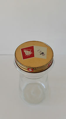 "Retro Vintage Folgers Coffee Crystals Glass Jar With Lid No Label  8""H"