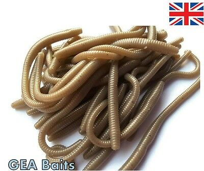 New 27 Pcs Coffe Trout Worm Earthworm Sea Fishing Soft Lures Tackle Baits 8cm