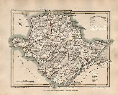 1816 County Map G Cole & J Roper : Anglesey