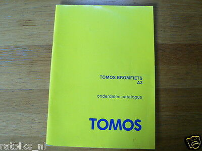 Tomos Bromfiets A3 Onderdelen Catalogus Moped Part List