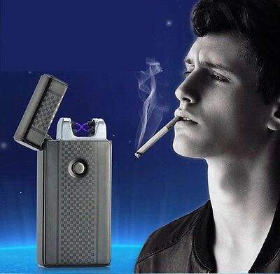 Electronic Arc Metal Thin Usb Lighter For Cigarette Smoking Windproof Ligher