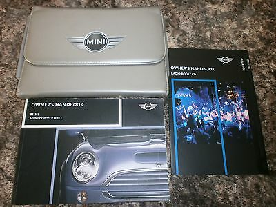 BMW MINI MK1 HANDBOOK MANUAL + AUDIO + WALLET see 11 photos for models covered
