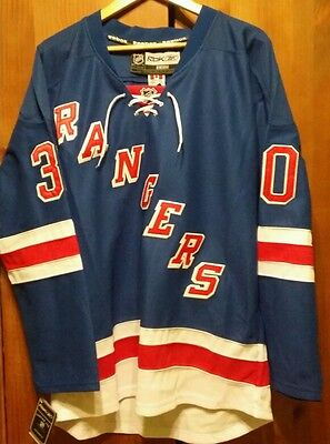 New York Rangers NHL Home Jersey #30 LUNDQVIST Sizes L+XL