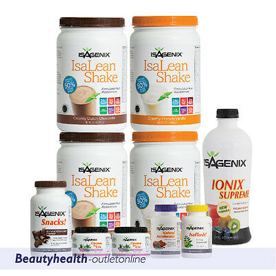FREE POST Isagenix 30 Day Nutritional Cleansing, Fat Burning & Weight Loss PACK