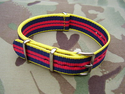 Royal Logistic Corps RLC Army Stable Belt Colours G10 NATO Military Watch Strap