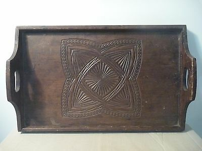 Hand-carved Wooden Tray