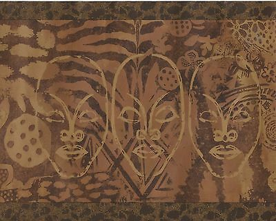 Dramatic African Mask - Golden Animal Skins - ONLY $6 - Wallpaper Border B064