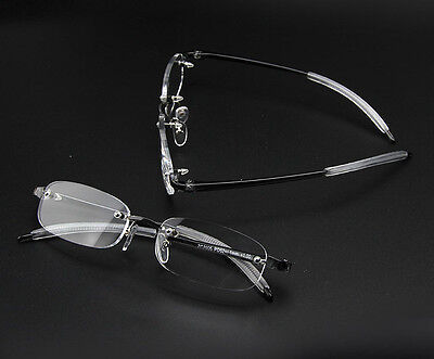 Rimless Oval Metal Frame Nearsighted Minus Distance Myopia Glasses-1.0 2 3.5 4.0