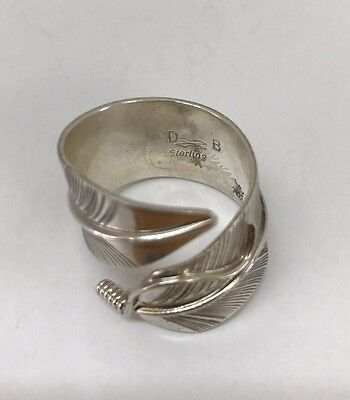 Native American Sterling Silver Navajo Hand Made Feather Ring