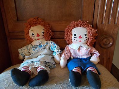 Vintage Raggedy Ann & Andy Dolls Johnny Gruelle's Own
