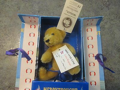 Collectible Mohair Merrythought TITANIC BEAR Limited Edition England Box & Cert