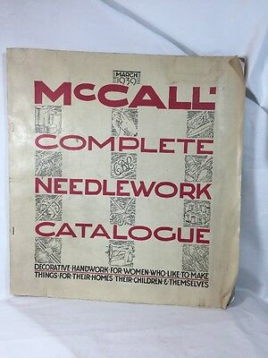 McCall's Complete Needlework Catalogue March 1939 Pattern Book Sewing Vintage