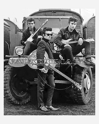 46 Early Sliver Beatles Photo With Stuart Sutcliffe