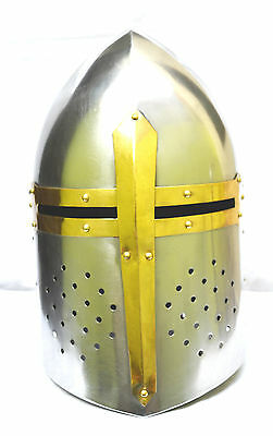Medieval Suger Loaf Armour Helmet-Roman Knight Helmets With Inner Liner-Replica