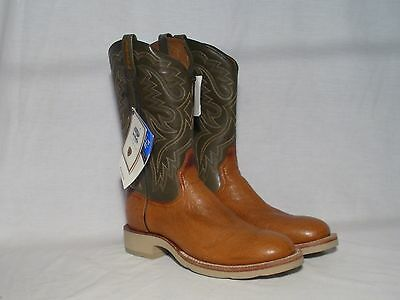 New Ariat Smooth Quill Ostrich Cobalt Crepe Western Boots Womens SIze 11
