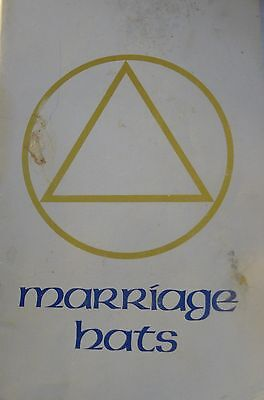RARE Vintage Scientology Marriage Hats by Mary Sue Hubbard Scientology 1982