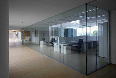 Glass Office Partitions/Panels/Doors Made to Measure-Toughened & Polished 10MM