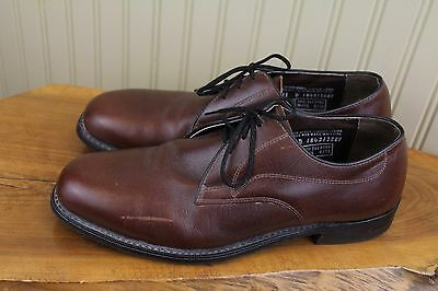 Vintage Iron Age USA Mens Brown Leather Steel Toe Work Dress Shoes, 11 D