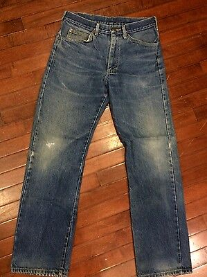 Vintage 70s Lee Riders 200 USA Union Made Faded 31 x 31 Mens Jeans