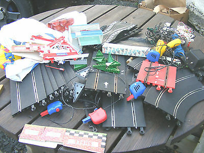 Job Lot Of Vintage Scalextric Track, Controllers , Etc