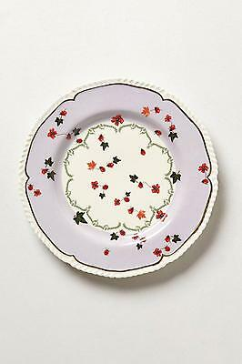 "New Anthropologie Nature Table Dessert Plate Lady Bug  8"" by Lou Rota"
