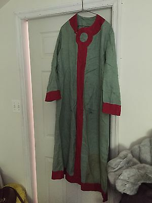 Vintage Chinese Linen Robe Political