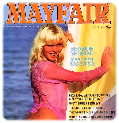 Vintage Magazines 9 x Mayfair issues on cd 1970's and 1980's