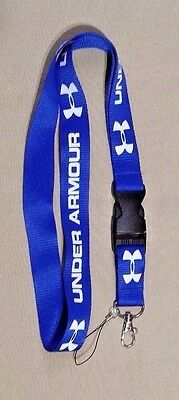 New Blue Under Armour Detachable Keychain Lanyard Strap Badge ID Cell Holder