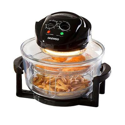 Daewoo HALOGEN OVEN 17L Healthy Quick Cook Kitchen Electric Cooker Heating New