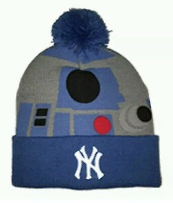 30de2f8e1 R2D2 DARTH VADER Yankees Knit Hat SGA Star Wars Extremely Rare ...