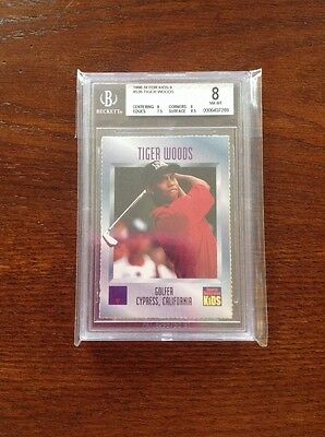 1996 SI for Kids II Tiger Woods Rookie Card BGS 8 NM-MT #536 RC Rare