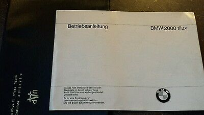 BMW 2000 Tilux 1968 BETRIEBSANLEITUNG  owner manual in German only New Ti-lux