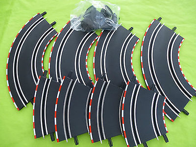 *NEW* 1/43 Carrera Go 4x STANDARD CURVES + 4x BANKED CURVES  (not scalextric)#2