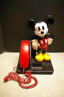 1990 Disney 'mickey Mouse' At&t Telephone Phone - Tested And Works