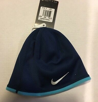 NWT Nike Cold Weather Reversible Beanie 577041 440 Youth Unisex Blue