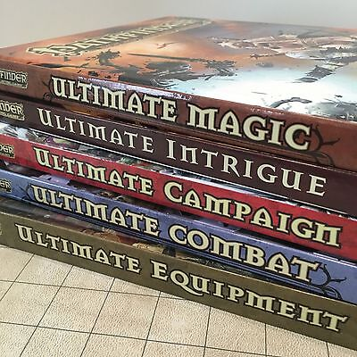 NEW Pathfinder LOT Ultimate Equipment Combat Campaign Intrigue Magic - Paizo 3.5