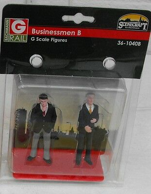36-104B Scenecraft figures G Scale 2 x Businessmen NEW inc P&P