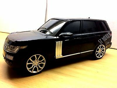 Large Black Range Rover Vogue Radio Remote Control 1:16 R/c Led Car - Ideal Gift