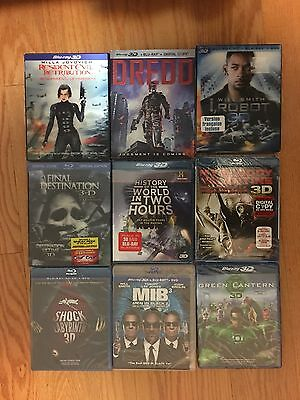 9 Factory Sealed 3D Bluray + Bluray + DVD (Canadian) Ship with Tracking
