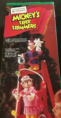 Mr Christmas Mickey Mouse Tree Trimmers Animated Disney Characters  Ladder