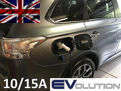 Portable EVSE EV Level 2 Electric Car Charger J1772 10/15A Switch LEAF PHEV i3