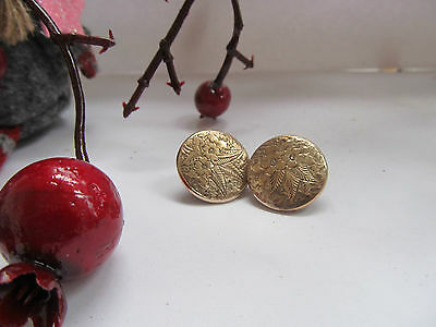Antique Vintage 9 Ct Gold Front (Acid Tested) Bachelor Buttons Circa 1890-1900,