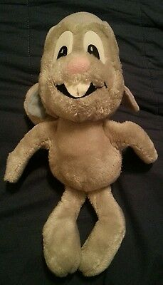 Vintage 1982 ROCKY AND BULLWINKLE & Friends Plush Toy Squirrel Doll Rare Retro