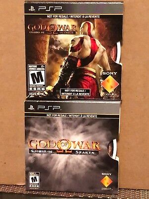Two Sony PSP - God of War: Ghost of Sparta / God of War: Chains of Olympus, NEW!