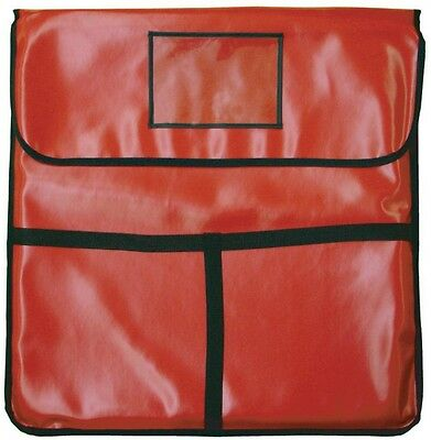 INSULATED Pizza Delivery Bag, Holds 2-22in. Pizza, 24in. x 24in. RED Leatheroid