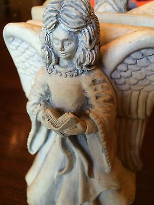 Old World Style Angels Reading Bookends
